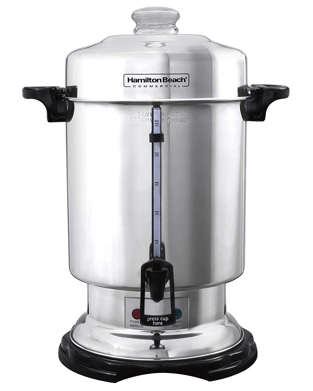 Hamilton Beach D50065 Commercial 60-Cup Stainless-Steel Coffee Urn, Silver (Renewed)