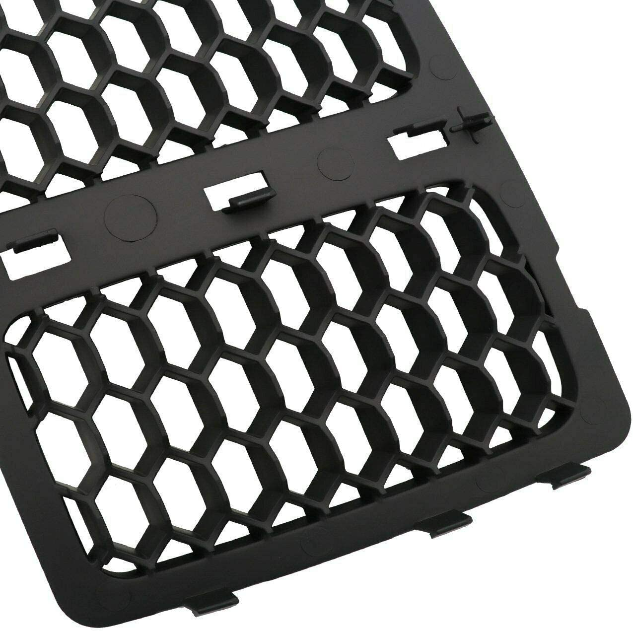 NO7RUBAN Fits 2014-2016 for Jeep Grand Cherokee Black Mesh Grille Insert Kit Front Grill Cover