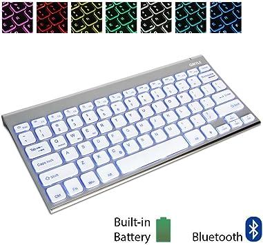 GMYLE® [Acero Inoxidable Teclado Universal 7 Colores de ...