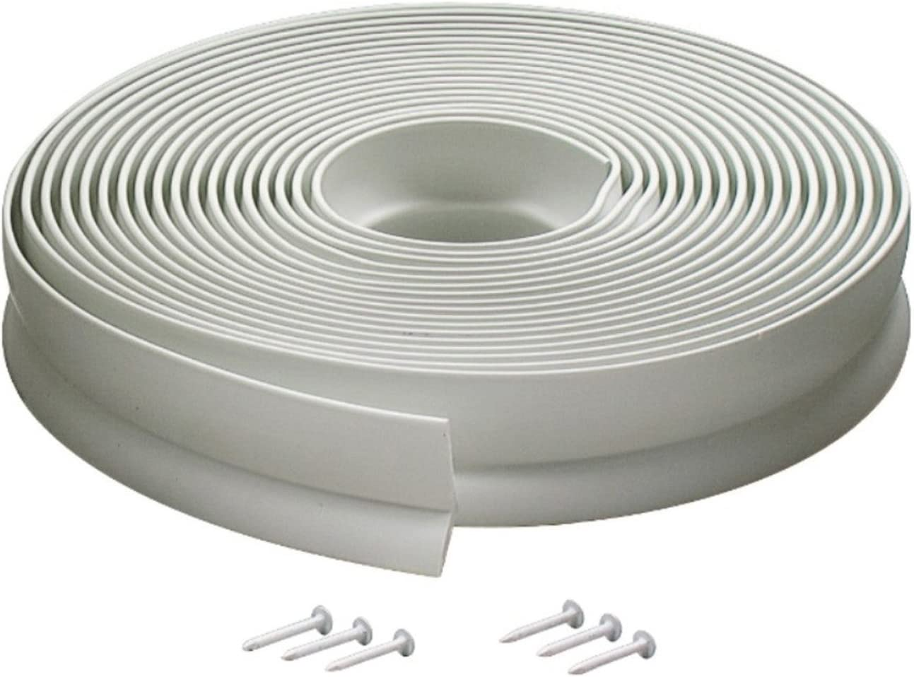 30 Feet M-D Building Products 3822 Vinyl Garage Door Top and Sides Seal White 2 PACK