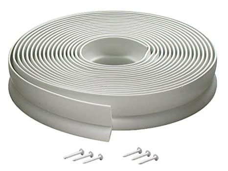 M D Building Products 3822 Vinyl Garage Door Top And Sides Seal, 30 Feet,  White