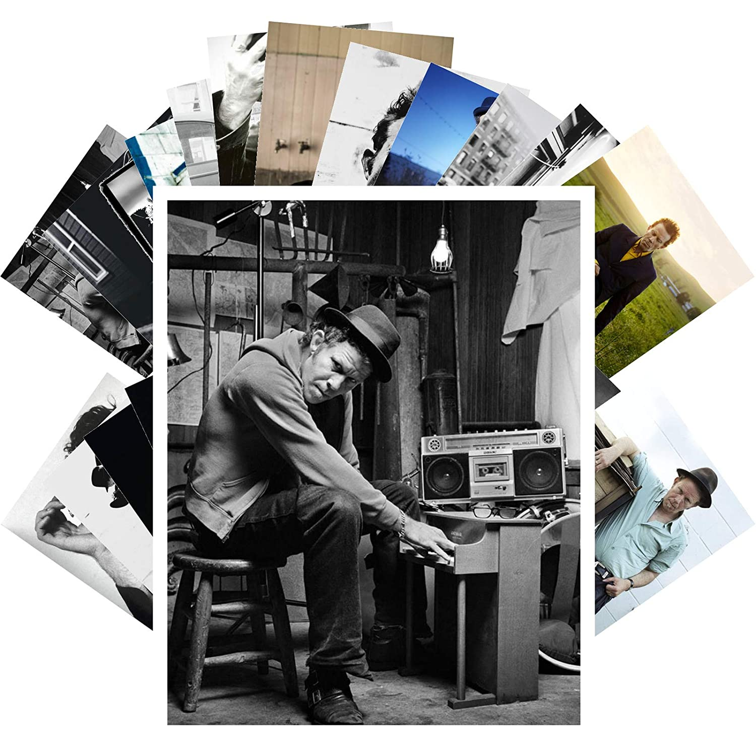 Amazon com: Postcard Set 24 cards TOM WAITS Rock Music Posters