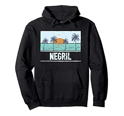 Retro Negril Jamaica Tropical Sunset Beach Vacation Pullover ...