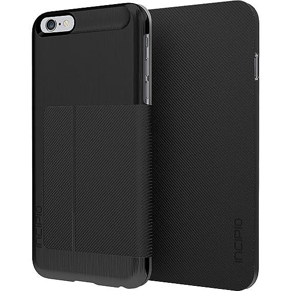 innovative design 93739 37f7d iPhone 6S Plus Case, Incipio Highland Premium Folio [Credit Card] Wallet  Folio fits iPhone 6 Plus, iPhone 6S Plus-Black/Black