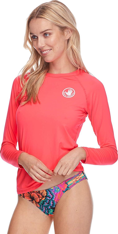 Body Glove Womens Smoothies Sleek Solid Long Sleeve Rashguard with UPF 50+