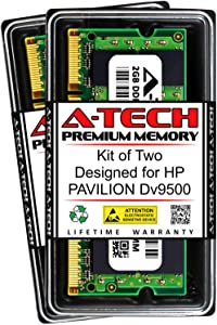 A-Tech 4GB (2 x 2GB) RAM for HP Pavilion DV9500   DDR2 667MHz SODIMM PC2-5300 200-Pin Non-ECC Memory Upgrade Kit