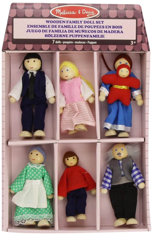 Melissa Doug Wooden Family Doll Set