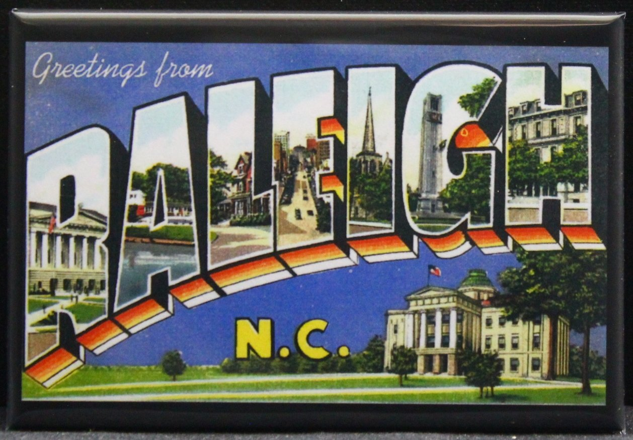 Amazon com: Greetings From Raleigh N C  Vintage Postcard