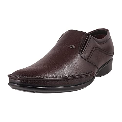 896a59799a07 Mochi Men Maroon Formal Moccasin available at Amazon for Rs.2990