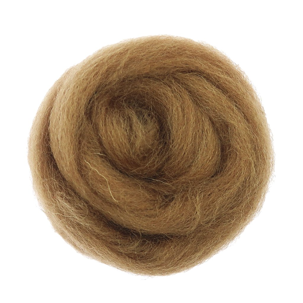 Coffee MagiDeal 1 Piece 10g Soft Wool Roving Felting Wool for DIY Needle Felting Craft Materials