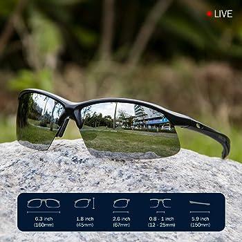 Mamjoin Polarized Sports Sunglasses for Men Women UV400 Protection