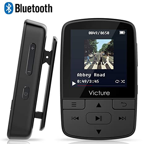 Victure Reproductor MP3 MP4 Bluetooth 4.1 Clip Running Reproductor de Música para el Deporte FM Radio Podometro E-Book Auriculares Soporte SD USB TF ...