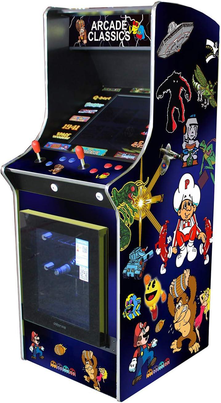 Amazon Com Arcade Machine Mini Fridge With 60 Classic Games Toys Games