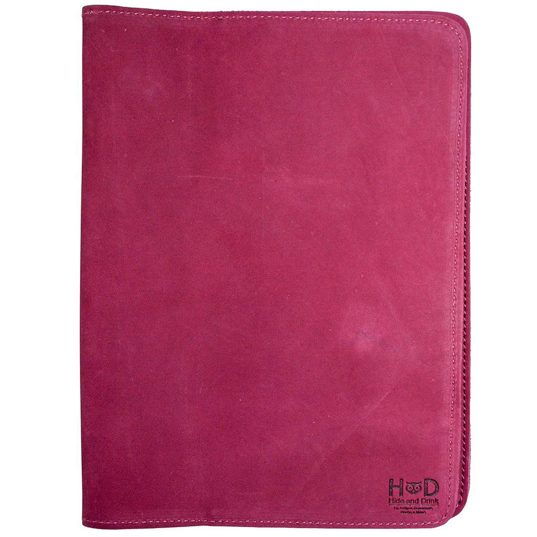 Hide & Drink, Rustic Leather Refillable Journal Cover for Moleskine Cahier XL (7.5 x 9.75 in.) Handmade Includes 101 Year Warranty :: Red Velvet Suede