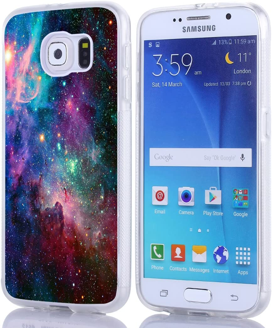 S6 Case - Case for Galaxy S6 - Cover Compatible for Samsung S6 - Magic Starry Galaxy (Slim Flexible TPU Protective Silicone)
