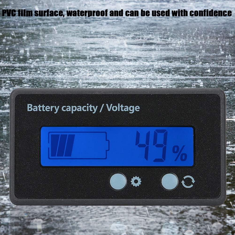 misuratore di tensione impermeabile 12-84V Monitor//tester di capacit/à della batteria Monitor di capacit/à della batteria digitale LCD compatibile con batteria al piombo//batteria al litio blu