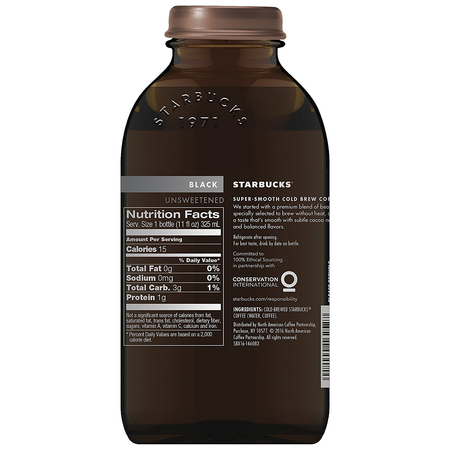 Starbucks Cold Brew Coffee, Black Unsweetened, 11 oz Glass Bottles, 6 Count by Starbucks (Image #5)