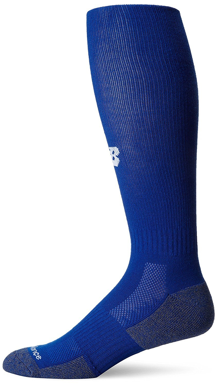 New Balance Men's Over The Calf Baseball Sock, Blue, Size 9-12.5/Large by New Balance