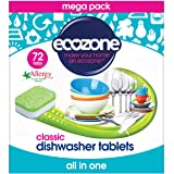 Ecozone Classic Dishwasher Tablets 72 tablet x 5 (Pack of 5)
