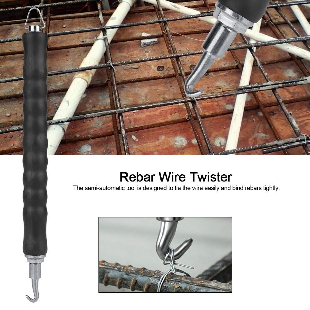 Rebar Wire Twister Rebar Tie Wire Twister Gancho retr/áctil semiautom/ático Herramienta for atar el refuerzo del sitio de construcci/ón
