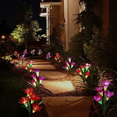 front facing tonulax multi-color solar garden lights