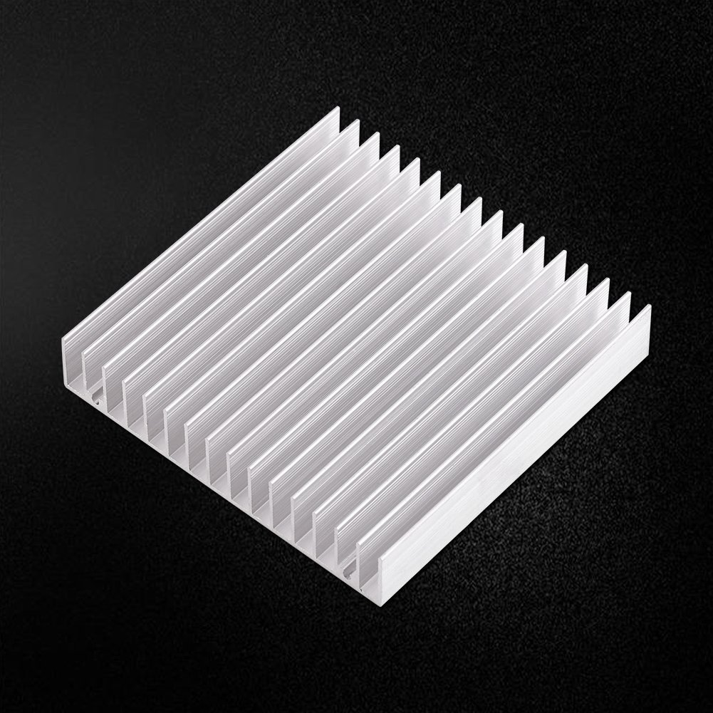 FTVOGUE Aluminium Heat Sink Good Thermal Conductivity Cooling Fin for Transistor Power Semiconductor Devices 10010018MM