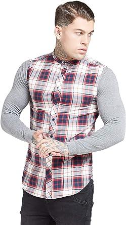 SikSilk - Camisa de franela para hombre, diseño de abuelo ...