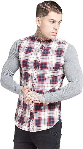 SikSilk - Camisa de franela para hombre, diseño de abuelo, color gris y rojo Gris gris S: Amazon.es: Ropa y accesorios