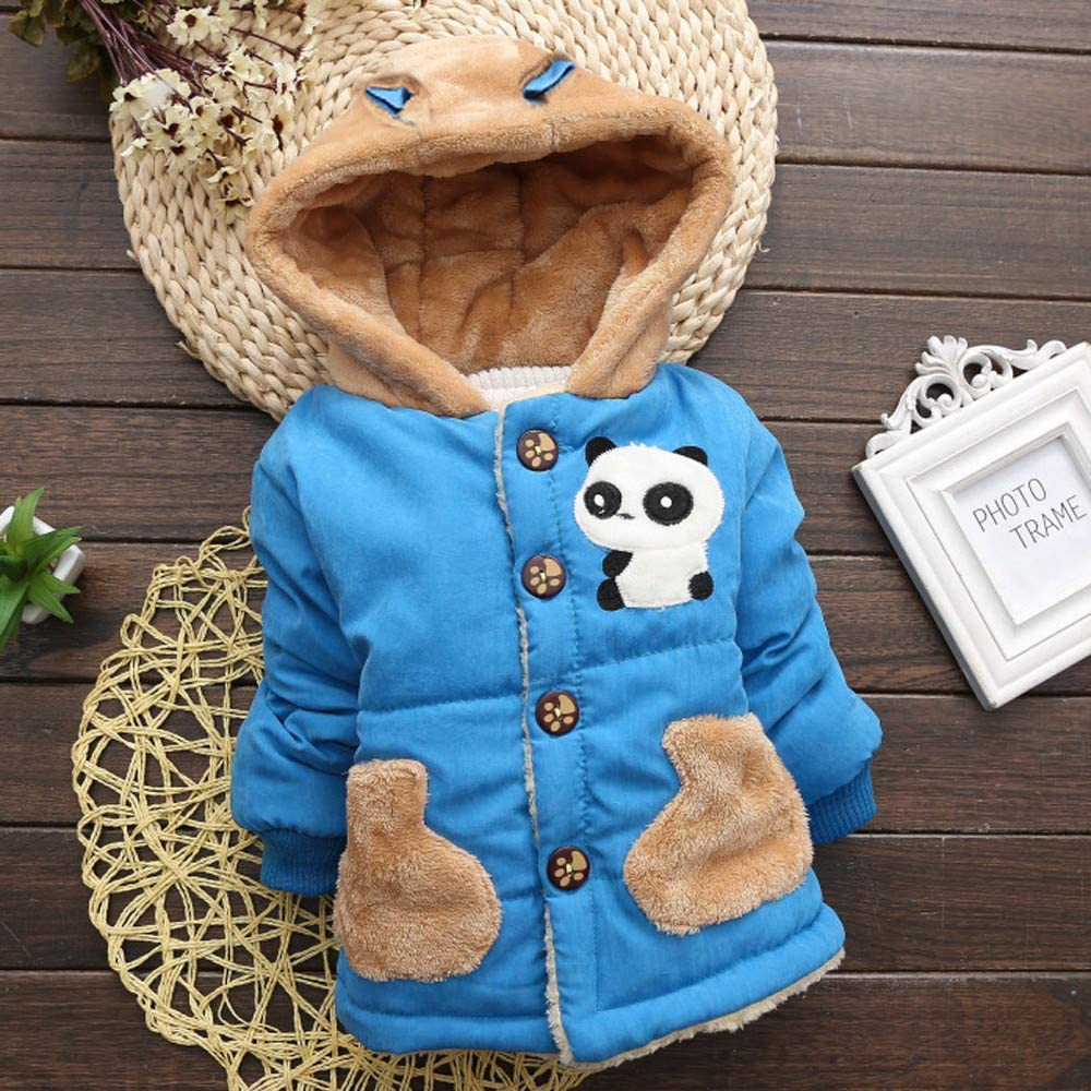 GorNorriss Baby Girl Coat Toddler Autumn Winter Hooded Cloak Thick Warm Clothes