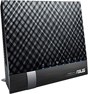 ASUS Dual-Band 802.11ac Wireless-AC1200 (Up to 1200Mbps) Gigabit Router - AiRadar optimizes signal strength in any direction and USB 3.0 plus USB 2.0 ports for file, 3G/4G, and printer (RT-AC56R)
