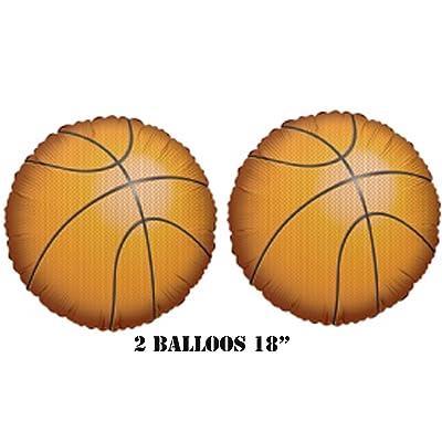 "Kaleidoscope Basketball Balloons 18"" (2 Balloons): Toys & Games"