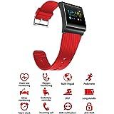 Smart Band X9 Pro / Sport - Fitness Armband mit Pulsmesser / Activity watch Tracker / Uhr / Wasserdicht IP67 - ROT