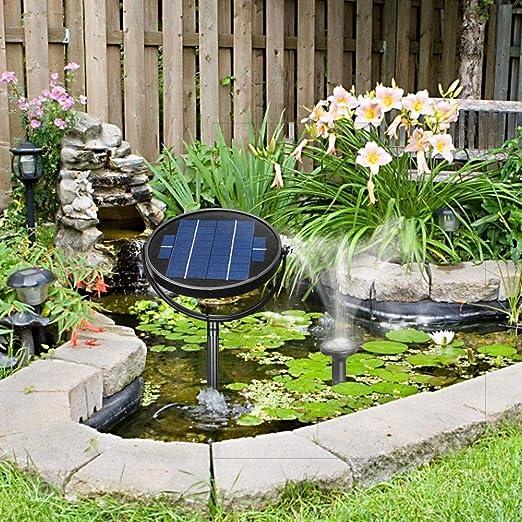 Fuente de jardín Exterior 3 W, Bomba con Panel Solar Impermeable 3 W, Mini pulverizador de Agua Flotante para jardín 120 cm.: Amazon.es: Hogar