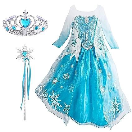 Mädchen 2019 Frozen 2 Prinzessin Elsa Kostüm Cosplay Party Outfit