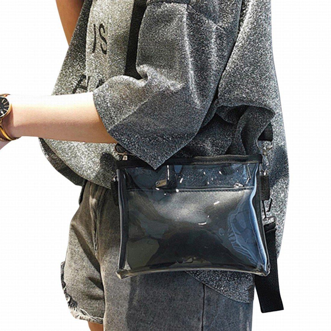 Amazon.com: Transparente Moda para niña Crossbody Bolsa ...