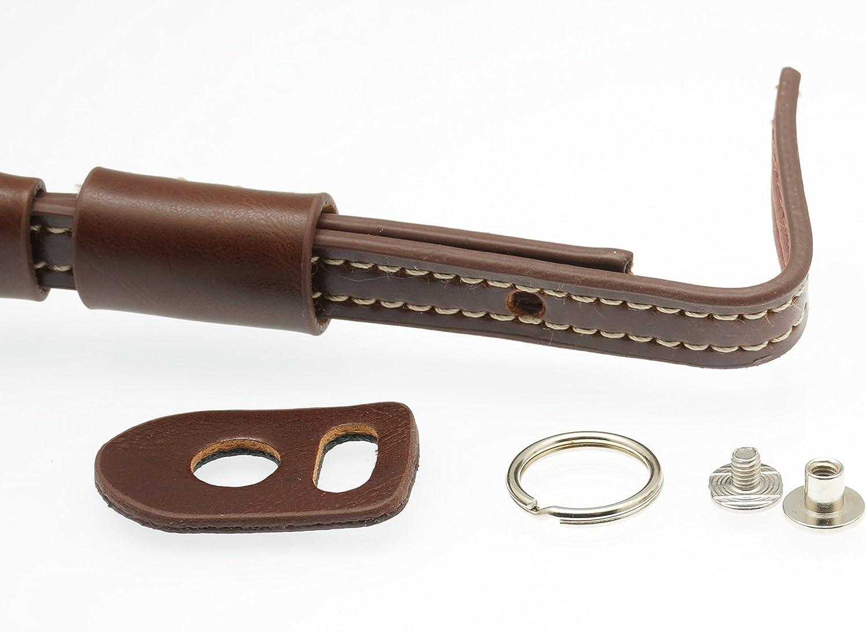 Gadget Place Dark Brown Classy Leather Wrist Strap for Nikon Coolpix P7800 P7700 P7000 Coolpix A P330 L320 S3500 AW110 S9500 S5200 S31 L28 L820 P520 L810 S9300 L120 P500 S9100 S8100 P100