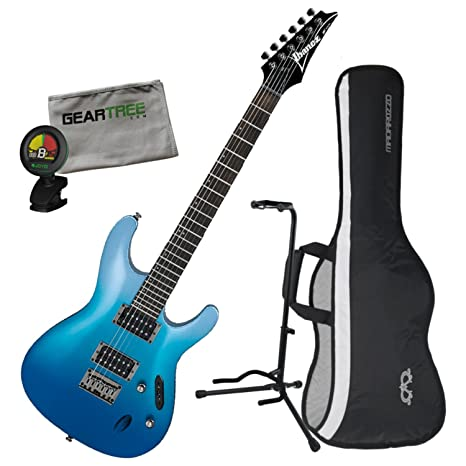 Ibanez s521ofm S estándar guitarra eléctrica – Océano Fade metálico w/bolsa de concierto,