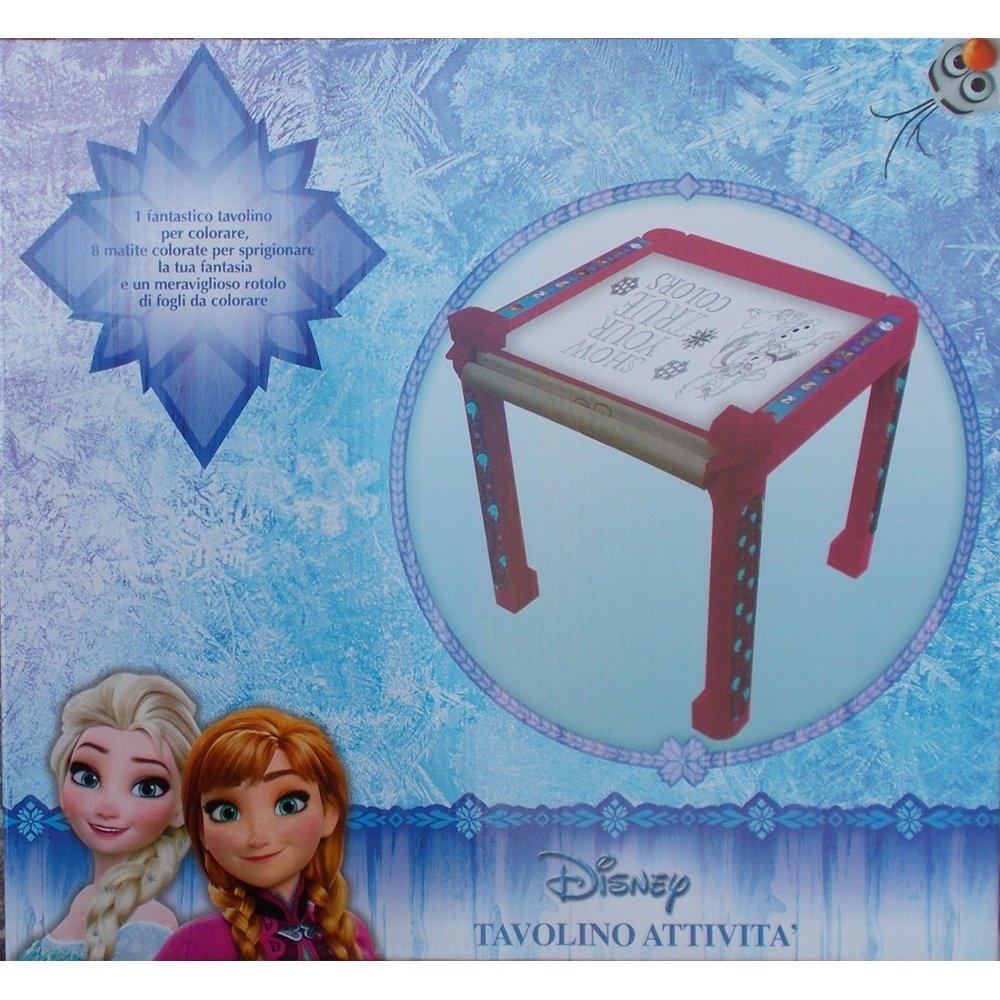 Tavolo Frozen Elsa Anna Olaf Disney Con Immagini Da Colorare E
