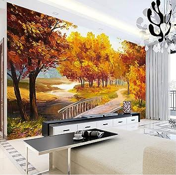 Merveilleux Marque Personnalisé 3D Photo Papier Peint Coloré Paysage Peinture À Lu0027Huile  Style Grand Peinture