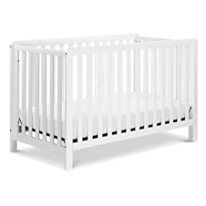 Carter's by DaVinci Colby 4-in-1 Low-Profile Convertible Crib in White, Greenguard Gold Certified