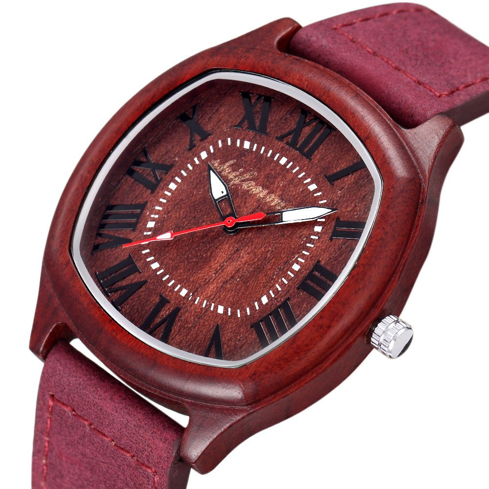 Women Watches for Sale,2019 Summer Deals! Quartz Movement Leather Watch Band Quartz Lovers Watch(Red)