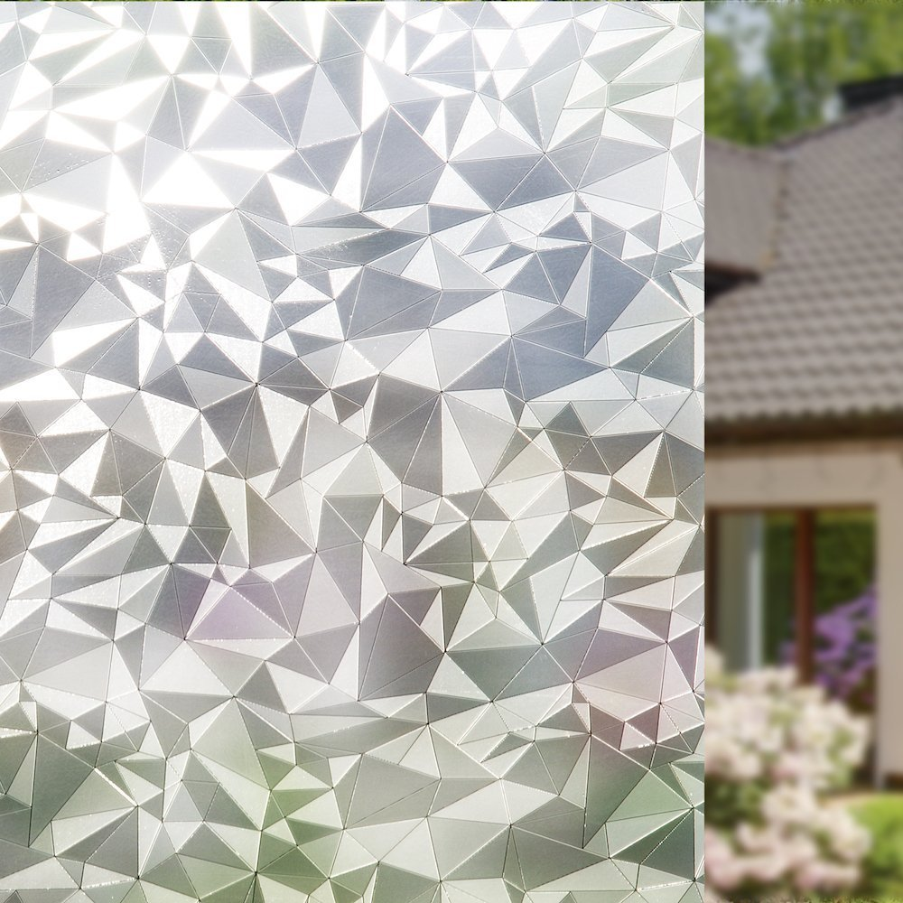 fancy-fix Privacy Window Film Static Cling Non-Adhesive Decorative Glass Film Anti-UV for Home Office (35.4in x 78.7in)