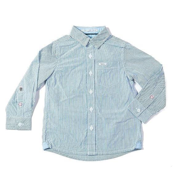 faa90a584c49 Pepe Jeans-Chemise Coton Bleu Manches Longues ado garçon  Amazon.fr   Vêtements et accessoires