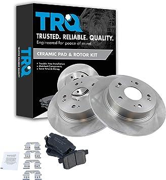Front Rear Disc Rotors /& Ceramic Brake Pads Fits Honda Accord