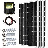 DC HOUSE 400 Watt Solar Premium Kit: 4pcs 100 Watt 12 Volt Monocrystalline Solar Panel with 20A MPPT Charge Controller