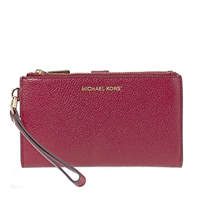 9f34bd9520ae Image Unavailable. Image not available for. Color: MICHAEL Michael Kors  Adele Leather Smartphone Wristlet ...