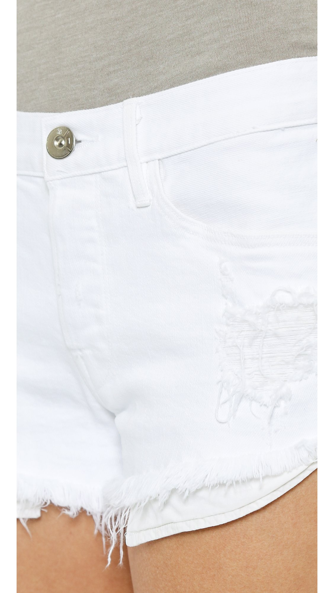 3x1 Women's WM5 Selvedge Cutoff Shorts, White Stone Ripper, 24 by 3x1 (Image #5)