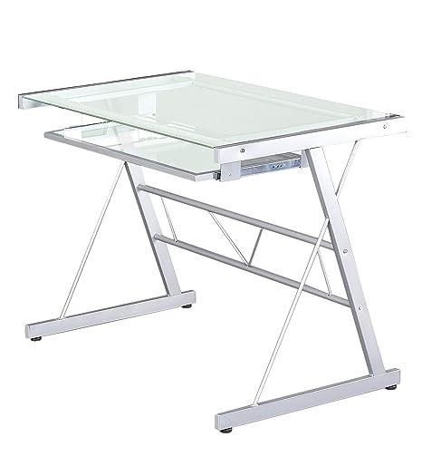 Estudiante de escritorio, cristal mesa para ordenador cómodo ...