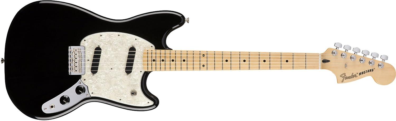春新作の Fender B01KWPU232 フェンダー White MUSTANG/Olympic White エレキギター B01KWPU232 Fender ブラック ブラック, シルバーリーフ:09816b38 --- hotel.officeporto.com