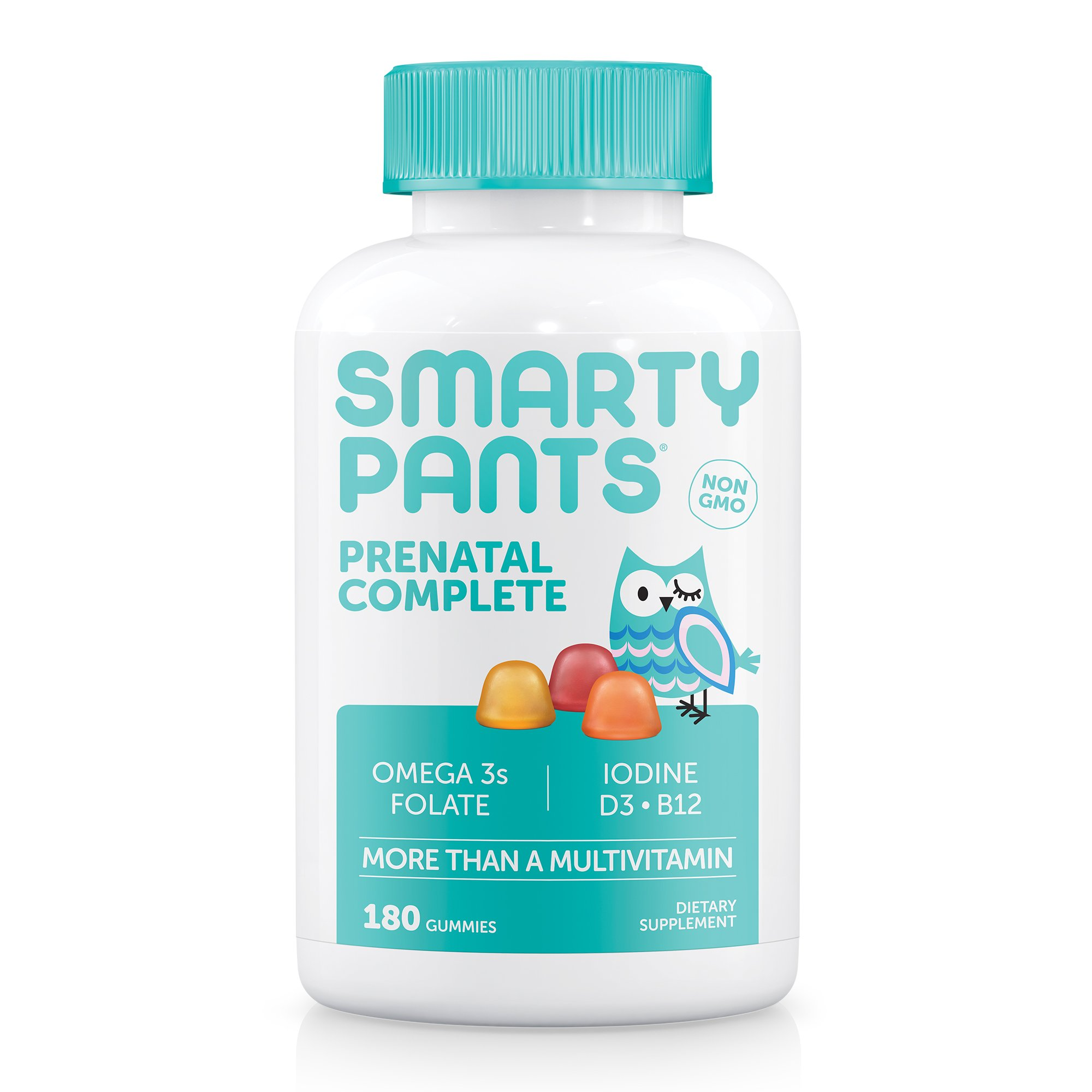 SmartyPants Prenatal Complete Daily Gummy Vitamins: Gluten Free, Multivitamin, Folate (Methylfolate)